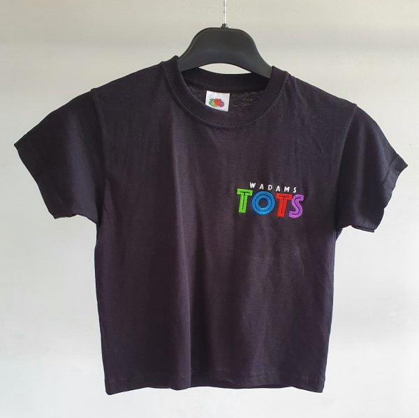 Adults Black T-Shirt with TOTS Logo 1
