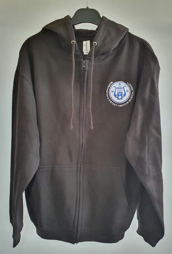 Adults Black Zip Hoodie with WADAMS Logo 1